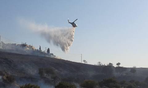 Σε ύφεση η φωτιά στην Κω - «Σύμμαχος» οι ασθενείς άνεμοι (photos)