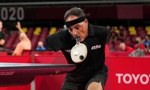 Παραολυμπιακοί Αγώνες 2020: Ο εκπληκτικός Ιρανός που παίζει πινγκ πονγκ με τη ρακέτα στο… στόμα