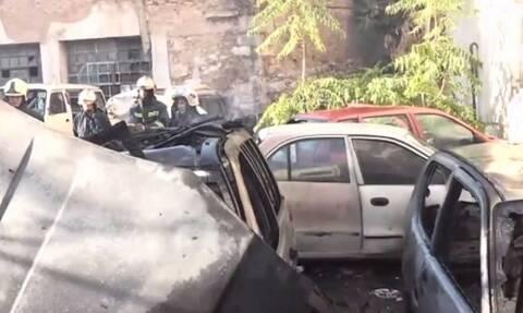 Φωτιά στην Κυψέλη: Κάηκαν αυτοκίνητα σε ιδιόκτητο χώρο