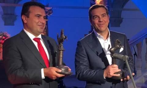 Απονεμήθηκε το βραβείο Ειρήνης της Βεστφαλίας σε Τσίπρα - Ζάεφ