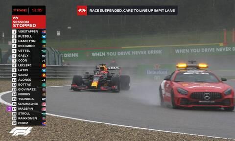 Formula 1: Χαμός στο βελγικό Grand Prix - Νικητής σε δεκάλεπτο αγώνα ο Φερστάπεν! (photos)
