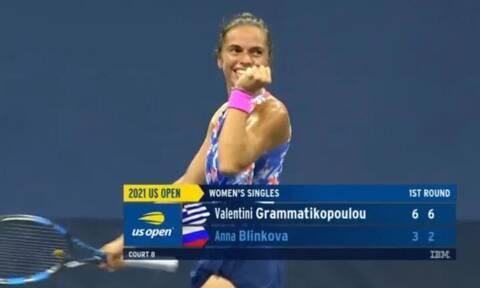 US Open: Θριάμβευσε η Βαλεντίνη Γραμματικοπούλου νικώντας με 2-0 σετ την Ρωσίδα Άννα Μπλίνκοβα