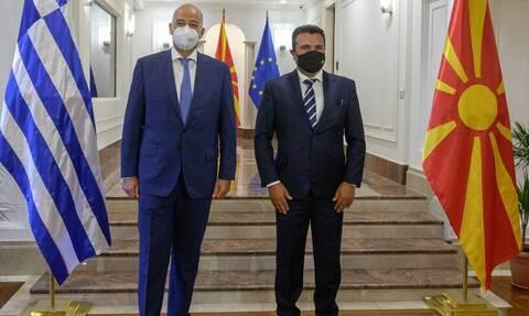 Συνάντηση Ζάεφ - Δένδια στα Σκόπια