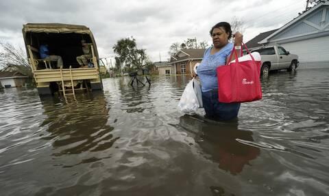 ΗΠΑ: Το καταστροφικό πέρασμα του τυφώνα Άιντα από τη Λουϊζιάνα- Οι εικόνες της καταστροφής