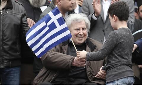 Μίκης Θεοδωράκης συλλαλητήριο Σύνταγμα 2018