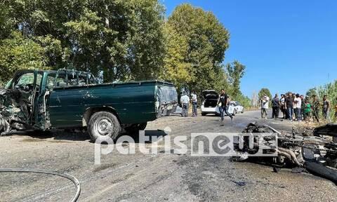 Τραγωδία στην Ε.Ο. Πύργου - Πατρών: Νεκρός 27χρονος μοτοσικλετιστής σε τροχαίο (vid)