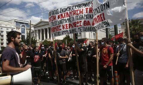 Ένταση και χημικά στο κέντρο της Αθήνας στο μαθητικό συλλαλητήριο (vid)