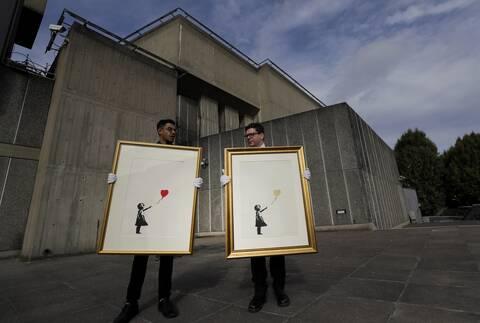 Βρετανία: Βγαίνει και πάλι στο «σφυρί» το έργο του Banksy «Το Κορίτσι με το Μπαλόνι»