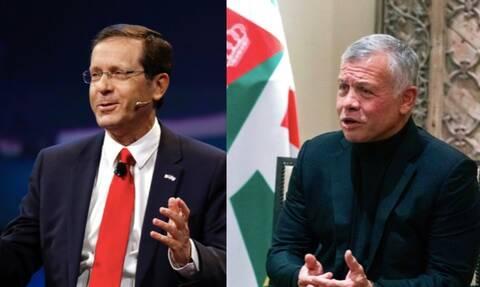 Ισραήλ-Ιορδανία: Μυστική συνάντηση του προέδρου του Ισραήλ με τον βασιλιά της Ιορδανίας
