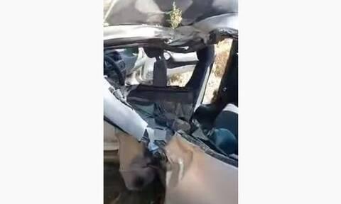 Κρήτη: Σοβαρό τροχαίο - Εγκλωβίστηκαν μητέρα και η ανήλικη κόρη της (vid)