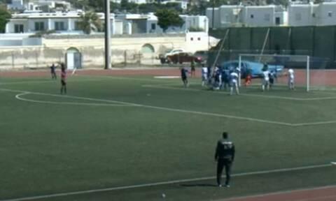 Κύπελλο Ελλάδας: Δύο γκολ με απευθείας κόρνερ στο Μύκονος-Εθνικός! (videos)