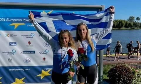 Κωπηλασία: Πρωταθλήτριες Ευρώπης οι Αναστασιάδου, Φράγκου! Τρία μετάλλια για την Ελλάδα