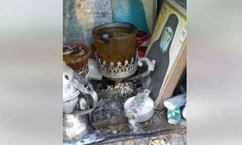 Εύβοια: Συγκλονιστικό βίντεο! Κάηκαν τα πάντα εκτός από τις εικόνες του Οσίου Δαυίδ