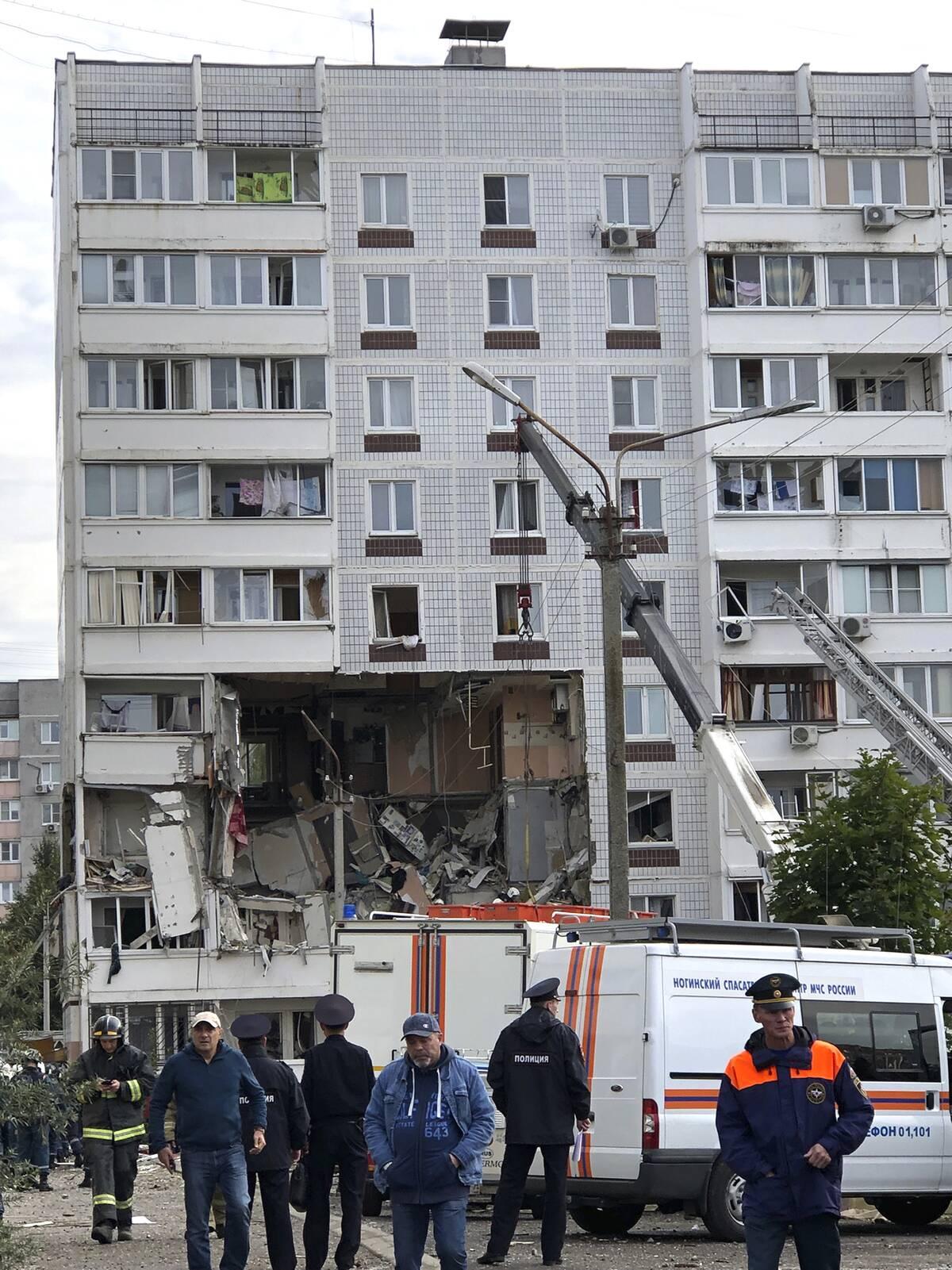 Έκρηξη στο Νογκίνσκ, κοντά στη Μόσχα.