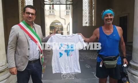 Άγης Εμμανουήλ: Τρέχοντας Αθήνα-Γλασκώβη για το κλίμα – Μιλάει στο Newsbomb.gr για την εμπειρία του
