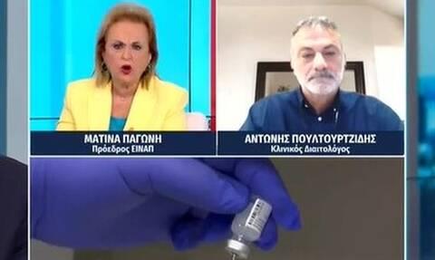 Ματίνα Παγώνη: Οργισμένη με αρνητή εμβολιασμού - «Η δική μου άποψη μετράει, και όχι η δική σας»