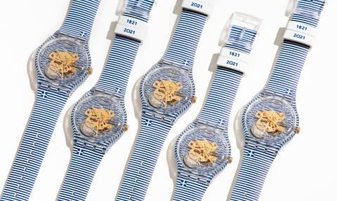 Συλλεκτικό ρολόι της Swatch από τον art director Yorgo Tloupas για τα 200 χρόνια από το 1821