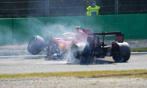 Formula 1: Τρομακτικό ατύχημα του Κάρλος Σάινθ στην Ιταλία (video+photos)