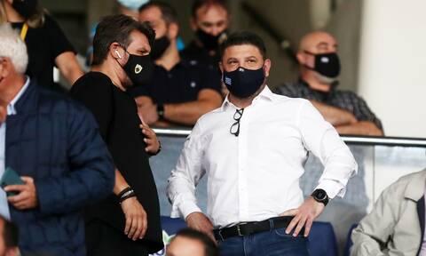 Super League: Στο ΟΑΚΑ για το ΑΕΚ – Ιωνικός οι Νίκος Χαρδαλιάς και Χρήστος Σταϊκούρας