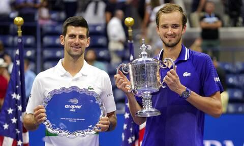 US Open: Θριαμβευτής ο Μεντβέντεφ - Υπέταξε τον Τζόκοβιτς στον τελικό με 3-0 σετ
