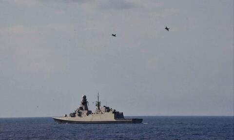 Ηλεκτρονικός πόλεμος στη Μεσόγειο: Ελληνικά μαχητικά «βομβάρδισαν» πλοία του ΝΑΤΟ στην Κρήτη