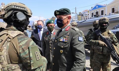 Ηχηρό μήνυμα Στρατηγού Φλώρου από το Καστελόριζο: Οι Ένοπλες Δυνάμεις διαφυλάσσουν την ελευθερία μας
