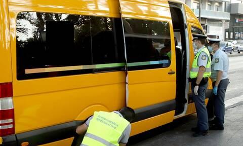 Πρώτη ημέρα στο σχολείο: Έλεγχοι της Τροχαίας σε σχολικά λεωφορεία - Βεβαιώθηκαν 65 παραβάσεις