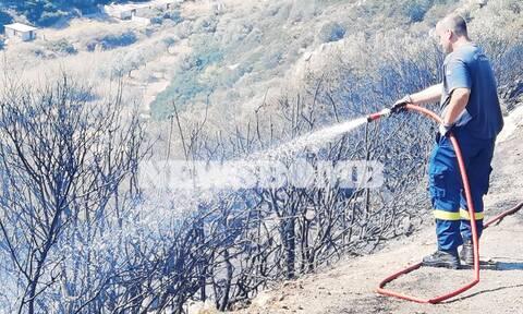 Φωτιά Κερατέα: Τέθηκε υπό πλήρη έλεγχο - Οι εικόνες καταστροφής που άφησαν πίσω τους οι φλόγες