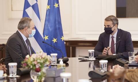 Συνάντηση Μητσοτάκη με τον νέο Γ.Γ του ΑΚΕΛ, Στέφανο Στεφάνου - Στο επίκεντρο το Κυπριακό