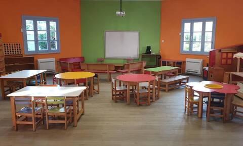 Νηπιαγωγείο-στολίδι: Ολική αναμόρφωση στον χώρο που θα υποδεχτεί τους 13 μικρούς μαθητές των Λειψών