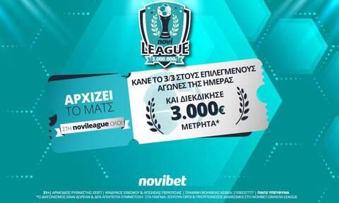 ΠΑΟΚ & Ολυμπιακός απόψε στη Novileague – Διεκδίκησε 3.000€ δωρεάν*!