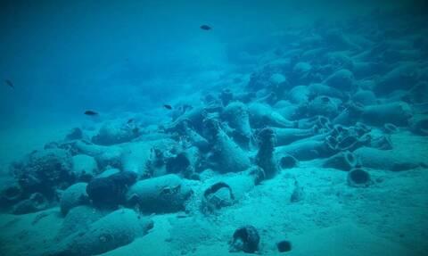 У берегов Крита на морском дне обнаружены амфоры II века н.э.