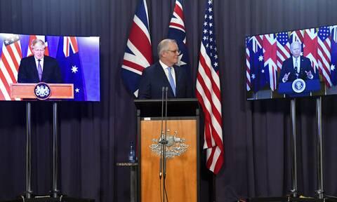 AUKUS Αυστραλία αντιδράσεις πυρηνική ενέργεια