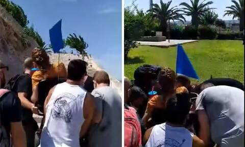 Συγκινητικό βίντεο: Σήκωσαν γυναίκα στα χέρια για να δει τον τάφο του Καζαντζάκη!