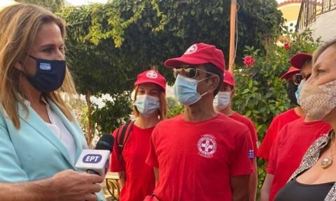Εγκαίνια Μονάδας Τηλεψυχιατρικής στη Σύμη από την υφυπουργό Υγείας Ζωή Ράπτη