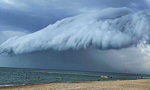 Χαλκιδική: Το σύννεφο που... έκοψε την ανάσα - Πώς προκλήθηκε το εντυπωσιακό φαινόμενο