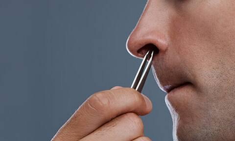 Πώς θα ξεφορτωθείς τις ενοχλητικές τρίχες στη μύτη σου