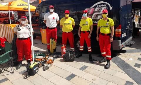 Άμεση η επέμβαση των Εθελοντών του Ε.Ε.Σ. στον τραυματισμό του παιδιού σε αγώνα καρτ στην Πάτρα