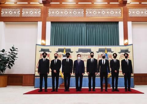 Οι BTS ειδικοί απεσταλμένοι της Νότιας Κορέας στον ΟΗΕ