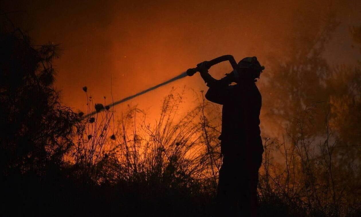 Φωτιά στη Δράμα: Χωρίς ενεργό μέτωπο η πυρκαγιά στο Κάτω Νευροκόπι