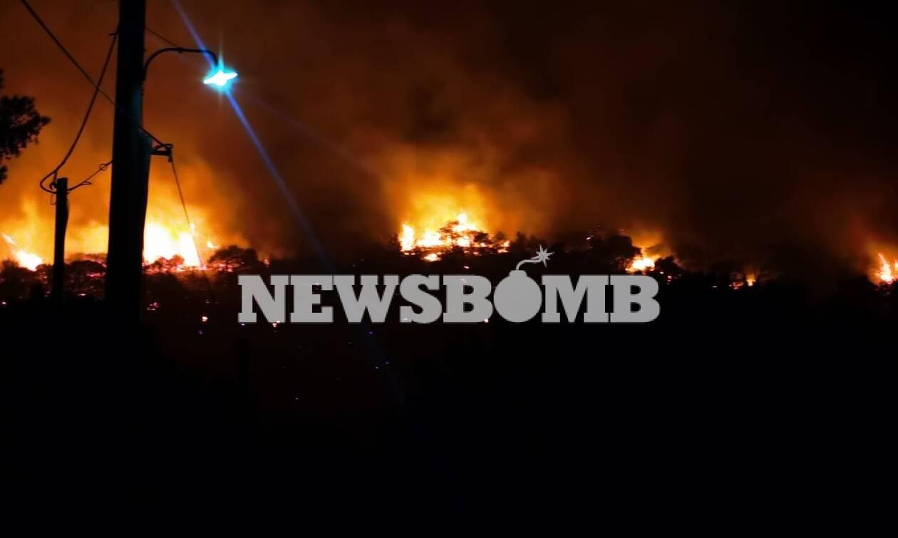 Ρεπορτάζ Newsbomb.gr - Φωτιά Νέα Μάκρη: Εικόνες από το μεγάλο πύρινο μέτωπο στον Αγιο Εφραίμ