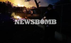Φωτιά Νέα Μάκρη: Νύχτα αγωνίας για τους κατοίκους - Εκκενώθηκαν οικισμοί και κινδύνεψαν σπίτια