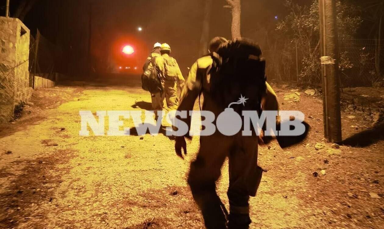 Χωρίς ενεργό μέτωπο η φωτιά στη Νέα Μάκρη - Όλα δείχνουν εμπρησμό