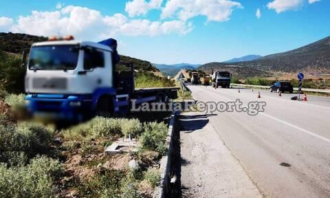 Φορτηγό παρέσυρε εργάτη οδοποιίας στο δρόμο Λαμίας – Δομοκού