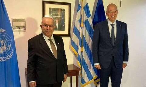 Δένδιας Αλγερινός ΥΠΕΞ Λιβύη ΟΗΕ