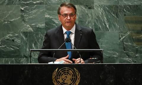 ΟΗΕ - Βραζιλία: Υπέρ των εμβολίων, αλλά κατά του υγειονομικού διαβατηρίου τάχθηκε ο Μπολσονάρου