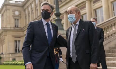 AUKUS: Ολα τα βλέμματα στη σημερινή συνάντηση των υπουργών Εξωτερικών ΗΠΑ - Γαλλίας