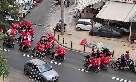 Στάση εργασίας και μοτοπορεία από τους διανομείς - Τα αιτήματά τους