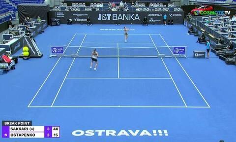 Σάκκαρη: Ένταση στο WTA Οστράβα - «Γαλλικά» από την Οσταπένκο στην Ελληνίδα (video)
