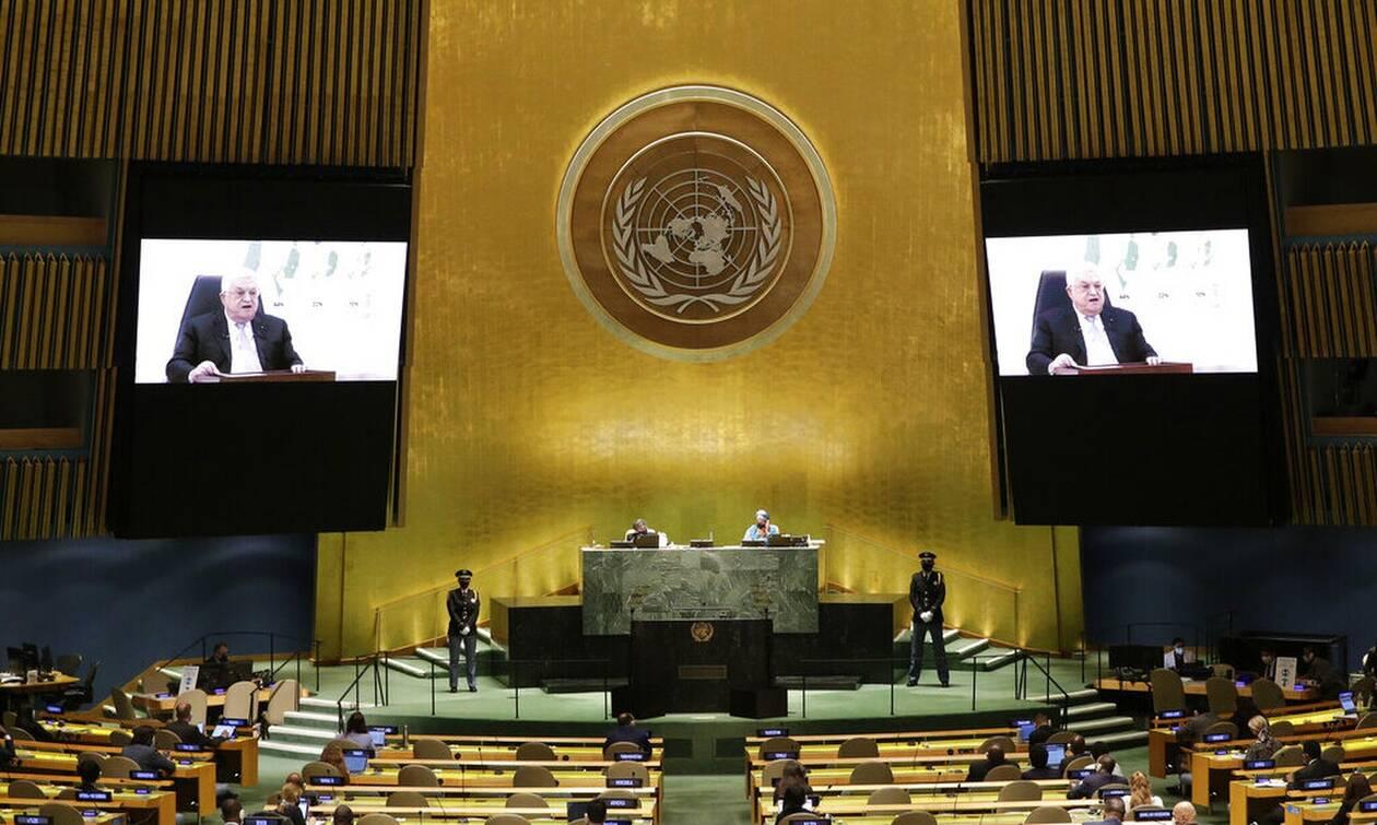 ΟΗΕ - Μαχμούντ Αμπάς: Το Ισραήλ έχει ένα χρόνο για να αποσυρθεί από τα παλαιστινιακά εδάφη